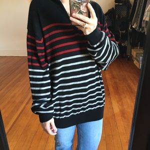 Vintage Striped Oversized Grandpa Sweater Slouchy